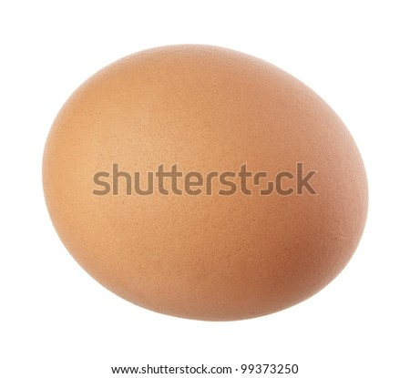 close up of egg on white background with clipping path - stock photo