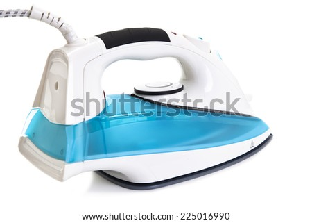 close up of Electric iron on white background