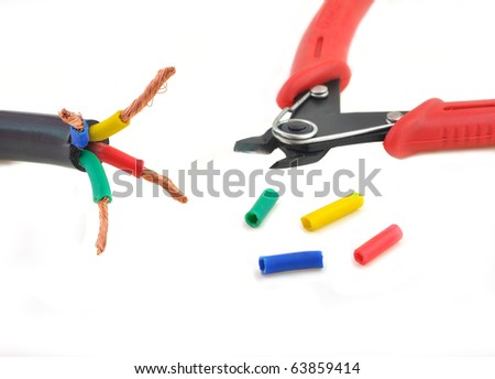 Close Electric Wire Cable Wire Cutter Stock Photo (Royalty Free ...