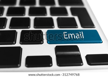 Close up of Email keyboard button - stock photo