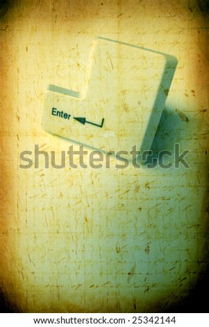 Close up of enter keys - stock photo