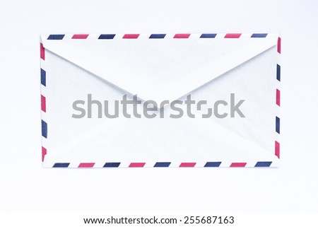 Close-up of envelope on white background