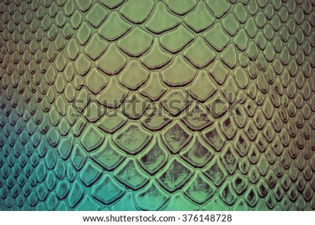 close up of exotic Snakeskin pattern as a wallpaper - stock photo