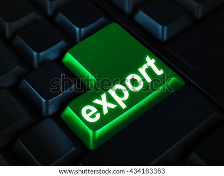 Close up of Export keyboard button