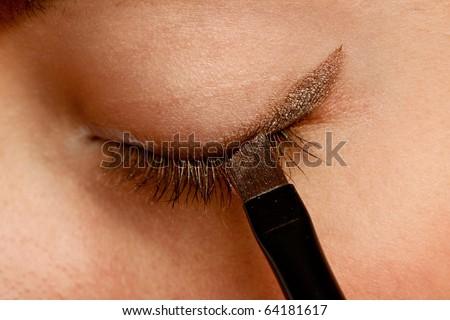 Close-up of  Eye Make-Up - stock photo