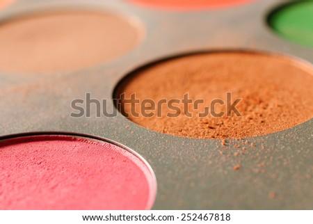 Close up of eyeshadow powder - stock photo