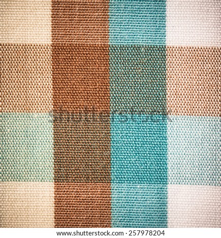 close up of Fabric plaid texture. Geometric background - stock photo
