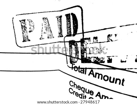 Close up of financial Invoice - stock photo