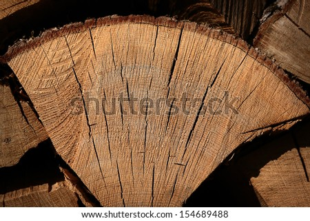 Close-up of fire wood  - stock photo
