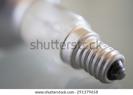 Close-up of fitting of a Lightbulb - stock photo