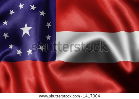 close-up of flag