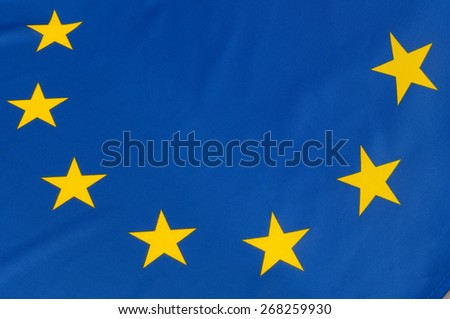 Close up of flag of European Union