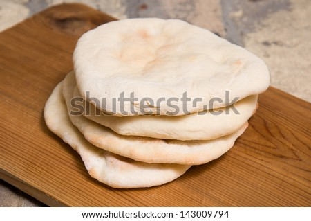 close up of flat bread - stock photo