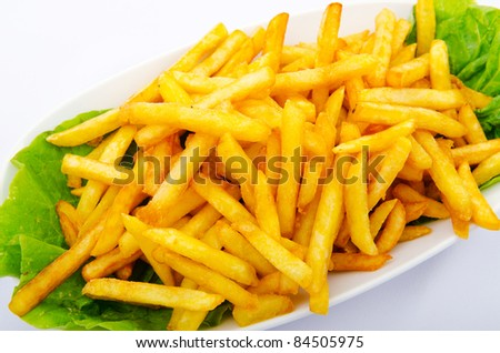 Close up of french fries - stock photo