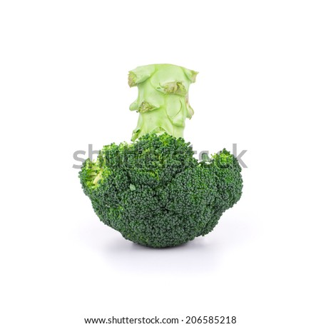Close up of fresh broccoli. Isolated on a white background - stock photo