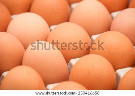Close up of fresh raw eggs for food background - stock photo
