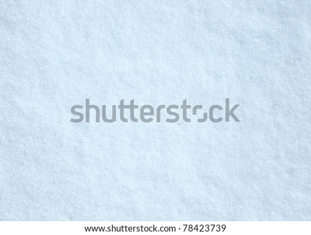 close up of fresh snow - stock photo