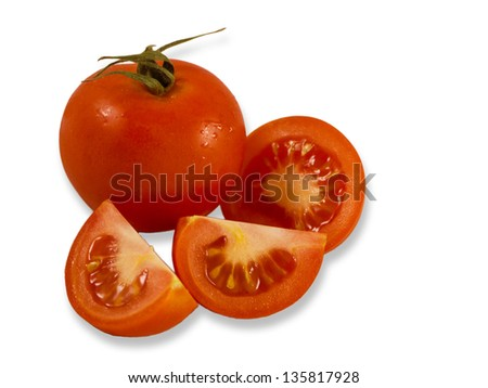 Close up of fresh vine tomatoes, tomato,