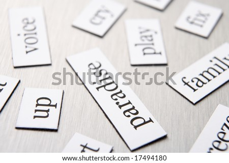 Close-Up Of Fridge Magnets