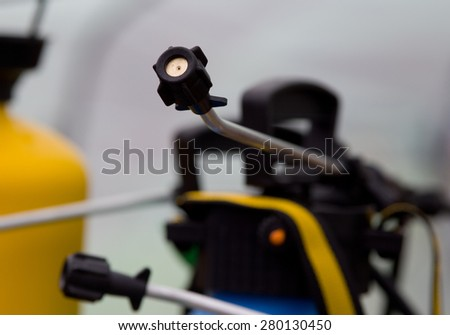 Close up of fruit sprayer for pesticides - stock photo