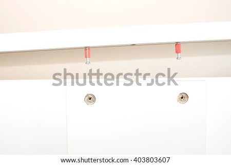 close up of Furniture assembly