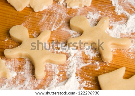 close up of gingersnap on a table - stock photo