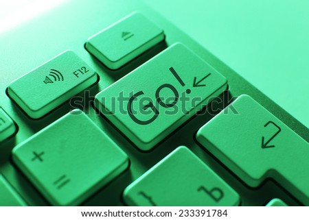 Close up of Go keyboard button