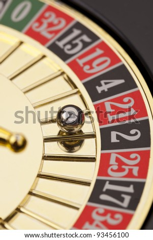 Close-up of golden roulette - stock photo