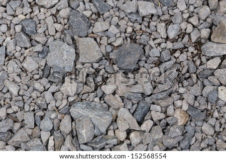 close up of gravel path for use as background texture
