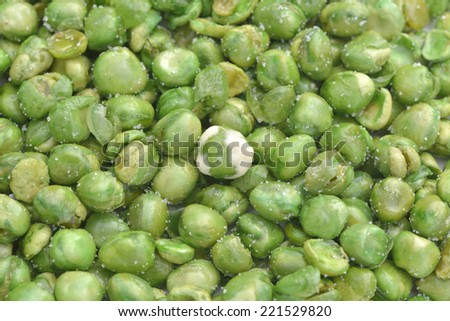 Close-up of green wasabi peas to use as background - stock photo