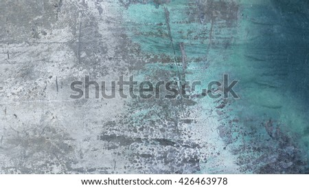 Close up of  grungy scratched metal  16:9 Abstract,textured,background with space for copy,text   - stock photo
