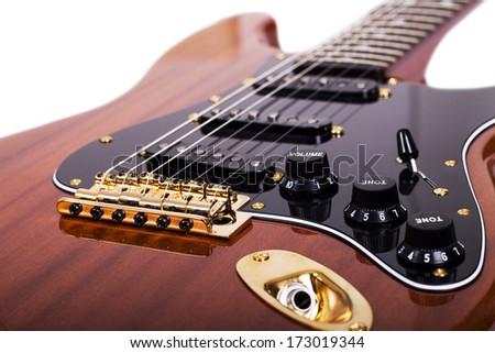 Close up of guitar - stock photo