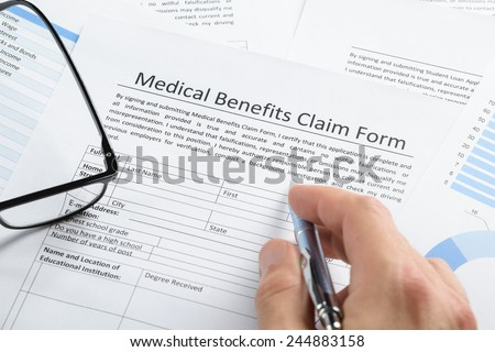 Closeup Wooden Gavel On Insurance Claim Stock Photo 561890155