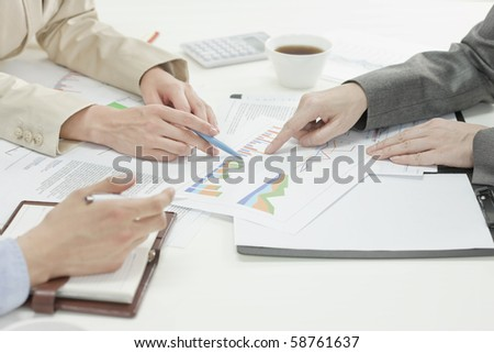 Close-up of hand of business meeting