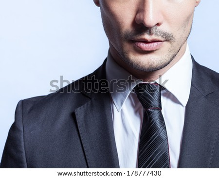Close up of handsome business man - stock photo