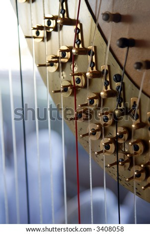 Close up of harp - stock photo