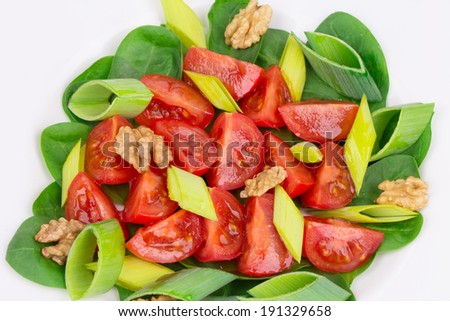 Close up of healthy salad. Whole background. - stock photo