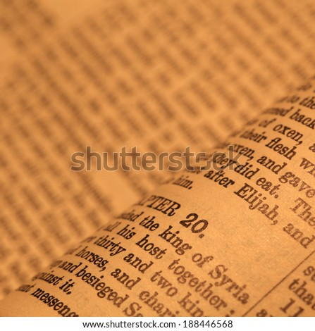 Close up  of Holy Bible