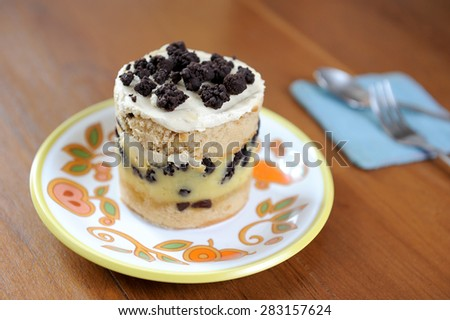 Close-up of homemade cake - stock photo