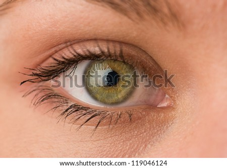 Close-up Of Human Eye - stock photo