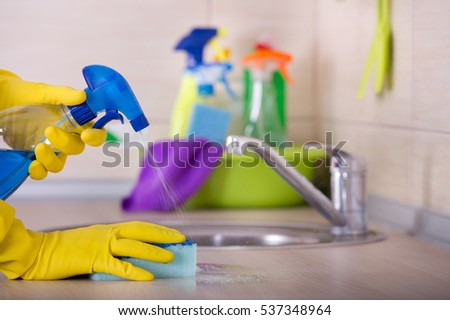 Close Human Hand Protective Gloves Holding Stock Photo 537348964 ...