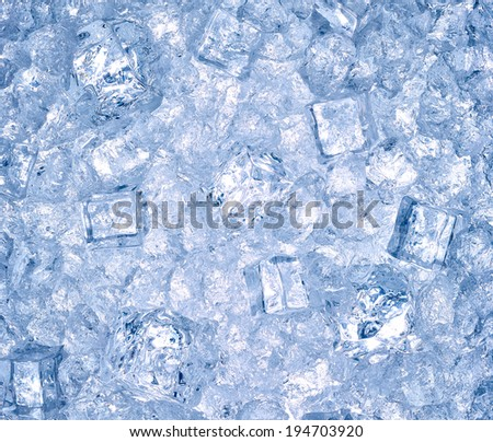 close up of ice - stock photo