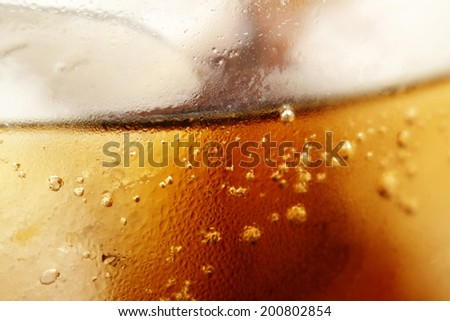 close up of iced drink - stock photo