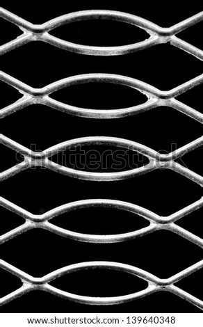 close up of iron wire fence
