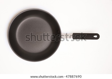 Close up of isolated frying pan - stock photo
