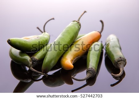 Close up of jalapeno peppers.