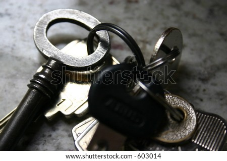 Close-up of key-ring with keys