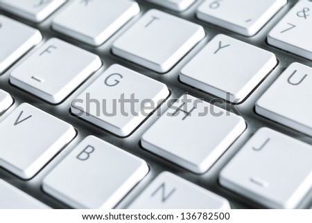 Close up of keyboard of a contemporary pc