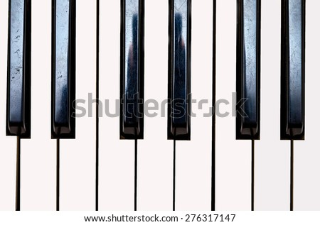 Close up of Keyboard of synthesizer. Music abstract background.