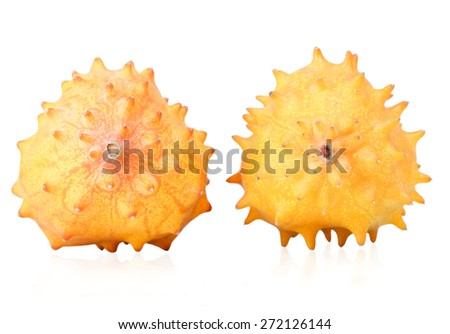Close up of kiwano fruits - stock photo